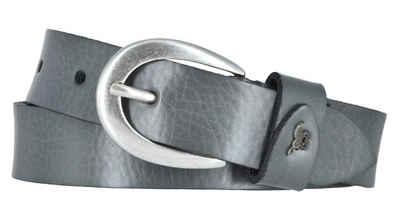 MUSTANG Ledergürtel »Mustang Damengürtel Ledergürtel genarbt 25mm anthr«