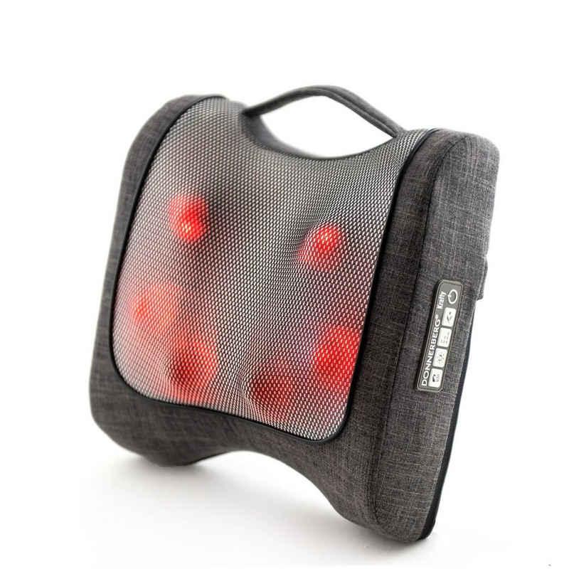 Donnerberg Massagekissen »Krafty RM-099«, 7 Jahre Garantie, Massagegerät mit 10 Massageköpfen, 2-stufige Infrarotwärme, Klopf- und Shiatsu-Massage, Rückenmassagegerät für Haus, Büro und Auto