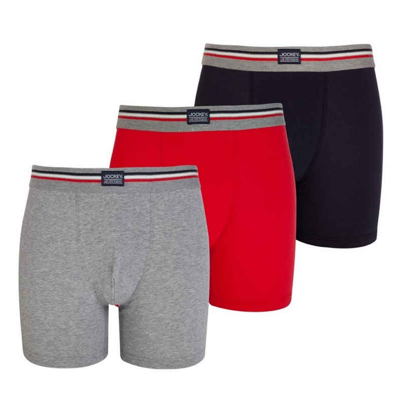 Jockey Retro Pants »3er Pack Cotton Stretch« (3 Stück) Boxer Short - Eng anliegend, Gute Passform, Ohne Eingriff