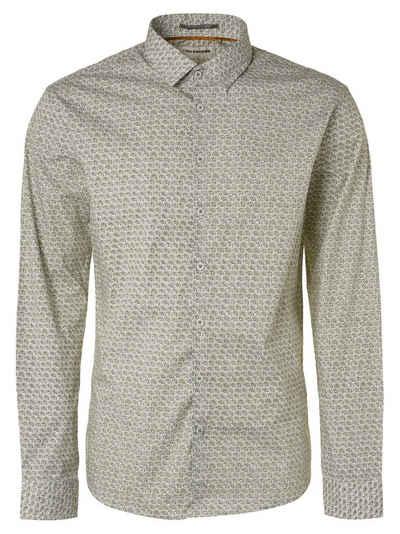 NO EXCESS Langarmhemd »Shirt, fancy circles print«