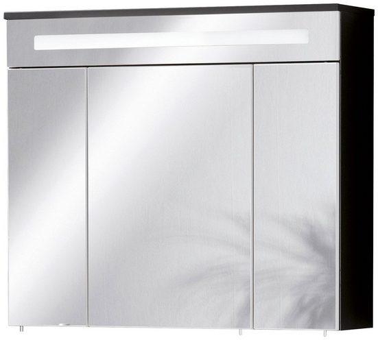 FACKELMANN Spiegelschrank »Kara - anthrazit«, Breite 80 cm, 3 Türen