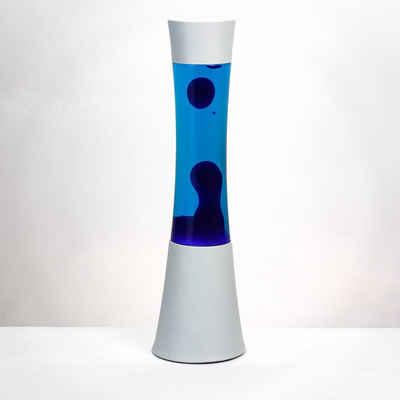 Licht-Erlebnisse Lavalampe »RINGO«, Retro Lampe Blau Weiß Tischleuchte Lampe