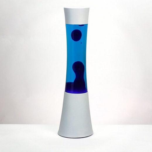 Licht-Erlebnisse Lavalampe »RINGO Retro Lampe Blau Weiß Tischleuchte Lampe«