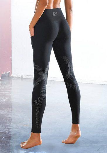 LASCANA ACTIVE Leggings mit reflektierende Details und Handytasche
