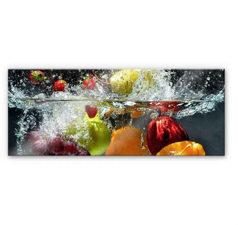 Wall-Art Küchenrückwand »Erfrischendes Obst - Panorama«, (1-tlg)