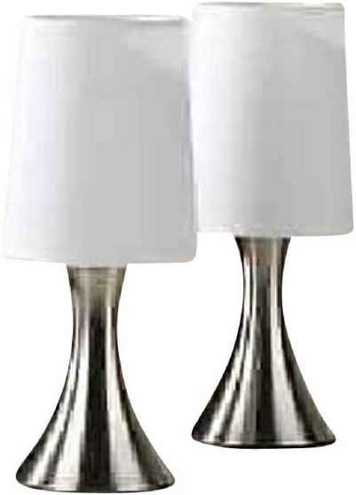 JOKA international Nachttischlampe »Touch Lampe 2er Set silber«