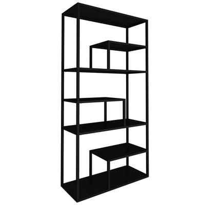 mokebo Bücherregal »Der Bücherwurm«, auch als Metall Raumteiler Regal mit 2-6 Ebenen