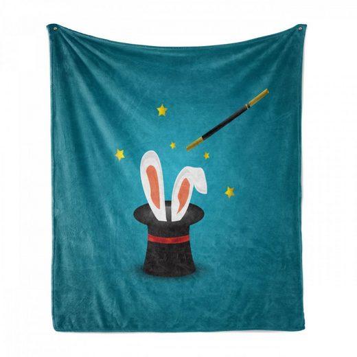 Foulard »Gemütlicher Plüsch für den Innen- und Außenbereich«, Abakuhaus, Hase Magicians Hat mit Ohren Sterne