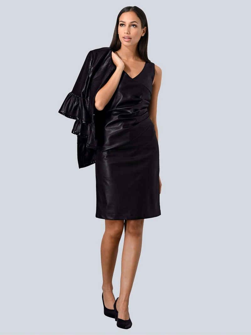 Alba Moda Sommerkleid aus Fake-Leder
