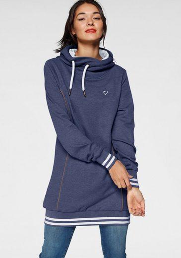 Alife & Kickin Sweatshirt »JilAK« sportiver Hoodie mit Kontrastbündchen & Details in Lederoptik