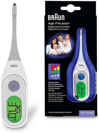 Braun Fieberthermometer »PRT2000 Age Precision«, Digitalthermometer mit altersabhängiger Einstellung der Fiebergrenzwerte für die ganze Familie