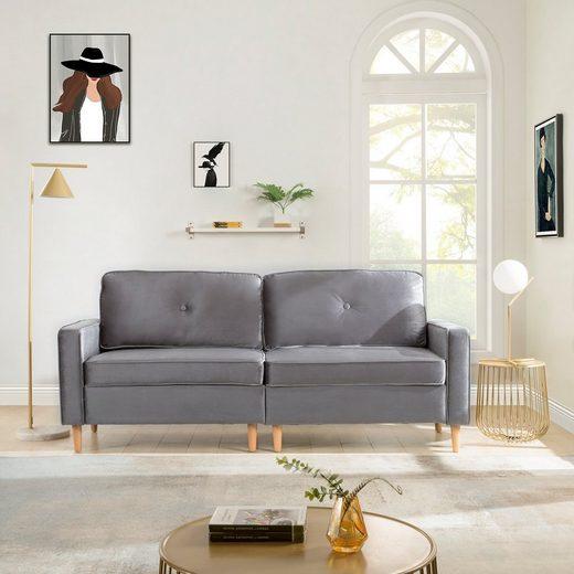 Masbekte Sofa, 3-Sitzer Sofa, mit Federkern und loser Rücken, 194*76cm