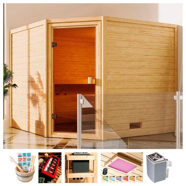 Saunen und Zubehör - KARIBU Sauna »Trixi«, 230x195x187 cm, 9 kW Ofen mit int. Steuerung  - Onlineshop OTTO