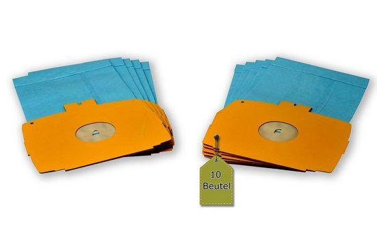 eVendix Staubsaugerbeutel Staubsaugerbeutel passend für Electrolux D 725, 10 Staubbeutel ähnlich wie Original Electrolux Staubsaugerbeutel 113466, E 6, passend für Electrolux