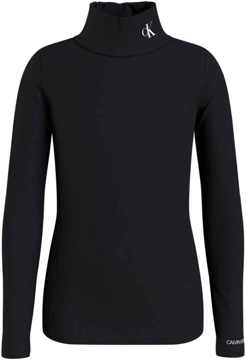 Calvin Klein Jeans Langarmshirt »MONOGRAM LS ROLL NECK TOP« mit Rollkragen