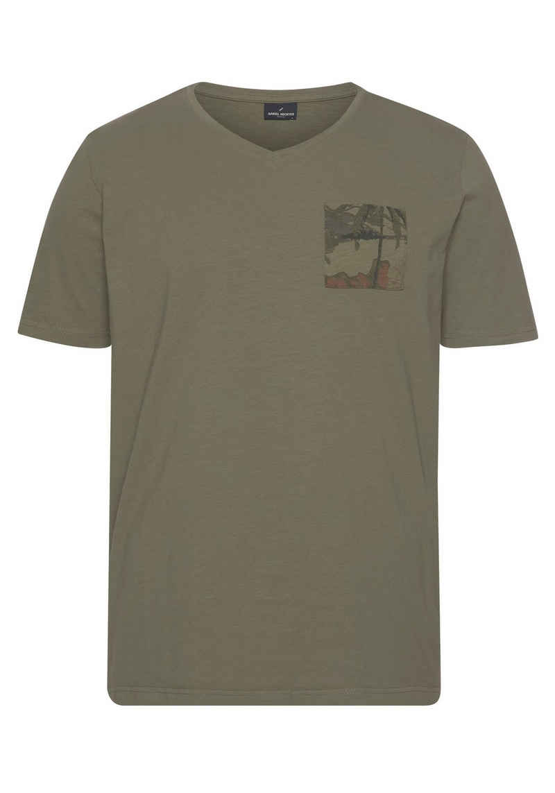 Daniel Hechter T-Shirt mit gemusterter Brusttasche