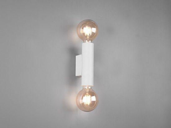 meineWunschleuchte LED Wandleuchte, für Treppenaufgang & Treppenhaus, mehrflammige, dimmbare Design Nachttisch Lese-Lampe Wand im Vintage Retro Stil