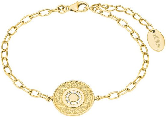 s.Oliver Armband »Coin, 2027622«, mit Zirkonia