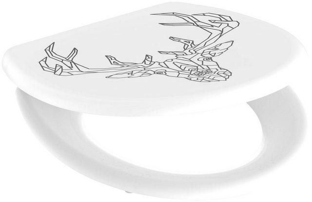WCs und Zubehör - welltime WC Sitz »Geometric Deer«, mit Absenkautomatik, abnehmbar  - Onlineshop OTTO