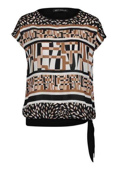 Betty Barclay T-Shirt »mit Schleifenknoten« Materialmix