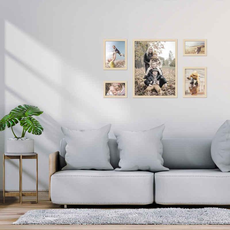 FrameDesign Mende Bilderrahmen-Set »Bilderrahmenset H950 - 5er Set«, für 5 Bilder (5er Bilderrahmen-Set, 5 Stück)