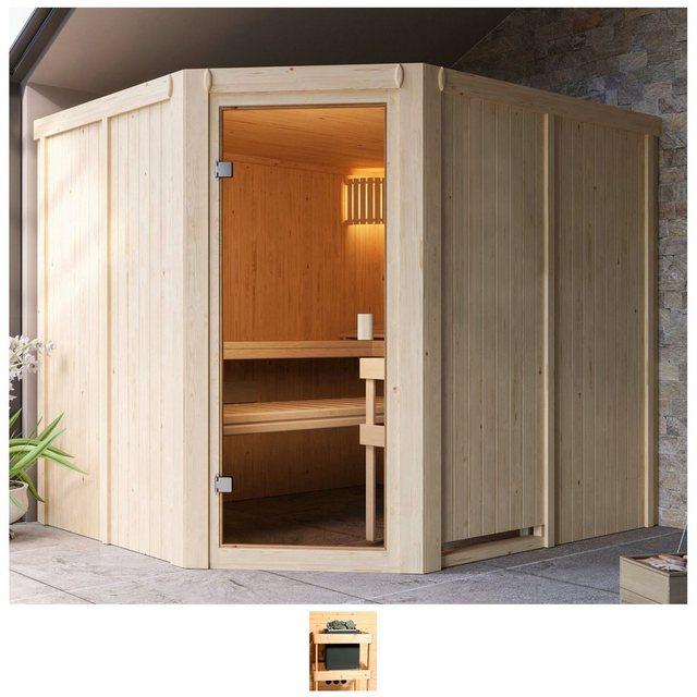 Saunen und Zubehör - Karibu Sauna »Henrika«, BxTxH 231 x 196 x 198 cm, 68 mm, ohne Ofen  - Onlineshop OTTO