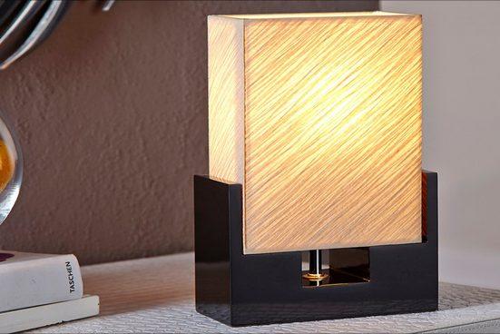 riess-ambiente Tischleuchte »TWILIGHT 25cm schwarz / beige«, Modern Design