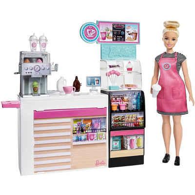 Mattel® Anziehpuppe »Barbie Nasch-Café Spielset mit Puppe (blond), über«