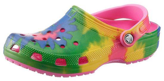 Crocs »Classic Tie Dye Graphic« Clog mit Batik-Muster
