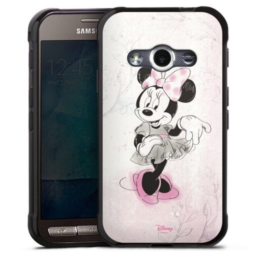 DeinDesign Handyhülle »Minnie Watercolor« Samsung Galaxy Xcover 3, Hülle Minnie Mouse Disney Vintage