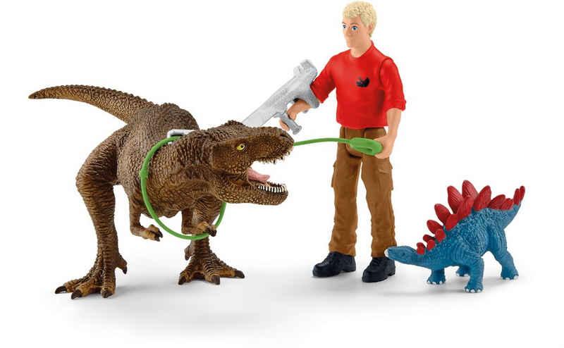 Schleich® Spielfigur »Dinosaurs, Tyrannosaurus Rex Angriff (41465)«, (Set)