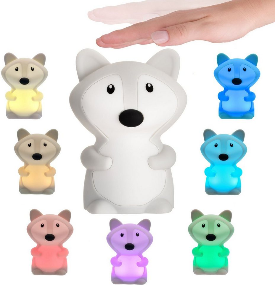 Kleine Fuchs-LEd-Lampe mit Abschaltautomatik und verschiedenen Lichtfarben