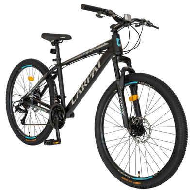 CARPAT Mountainbike »26 Zoll Mountainbike Herren Jungen Fahrrad«, 21 Gang Sunrun, Kettenschaltung, Aluminium Rahmen, mechanische Scheibenbremse, 16 Zoll Rahmen MTB