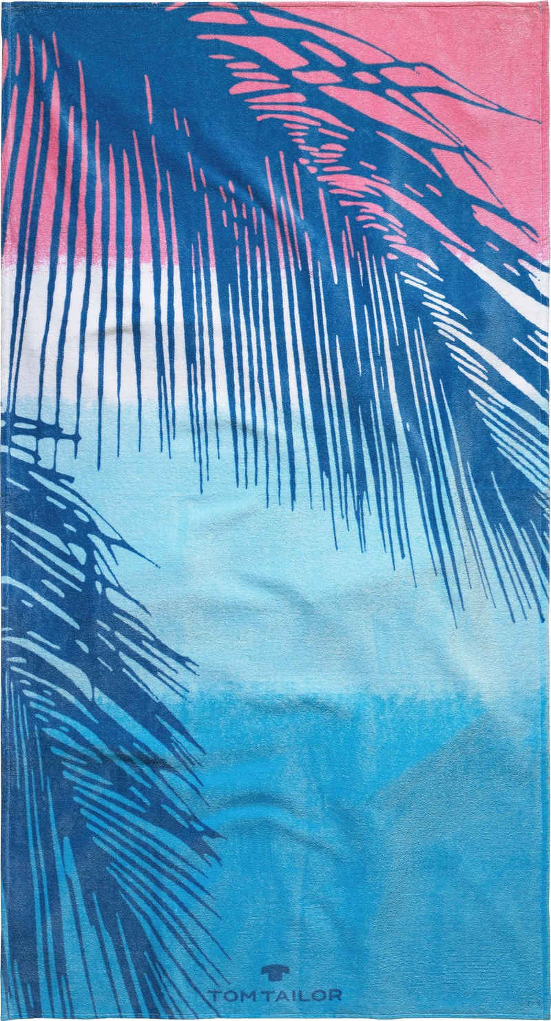 TOM TAILOR Strandtuch »Palmblätter« (1-St), mit trendigem Motiv