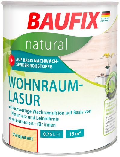 Baufix Holzschutzlasur »Transparent«, 0,75 Liter, transparent