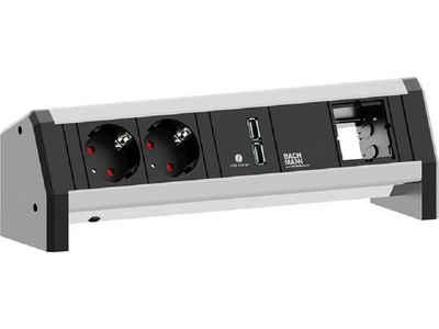 Bachmann »Bachmann DESK 1« Steckdosenleiste 4-fach, USB-Steckdosenleiste, Tischsteckdose, Custom Modul