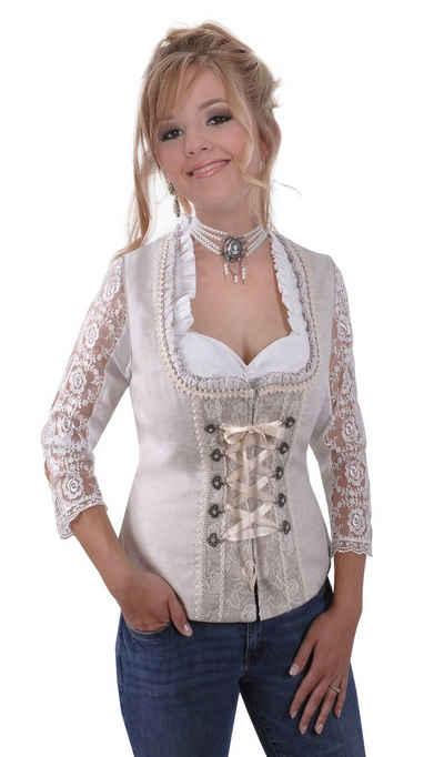 Moschen-Bayern Dirndl »Trachtenmieder Damen Trachtencorsage Dirndlmieder Corsage Mieder Trachten Festlich Beige« Mieder, Corsage, Trachtenmieder, Trachtencorsage