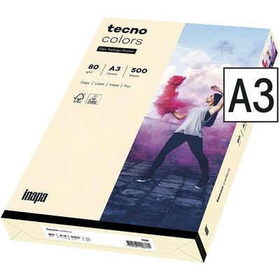 Inapa tecno Drucker- und Kopierpapier »Rainbow«, Pastellfarben, Format DIN A3, 80 g/m²