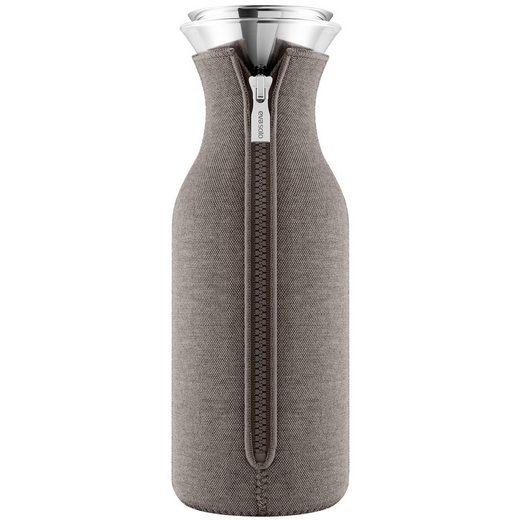Eva Solo Wasserkaraffe »Eva Solo Kühlschrankkaraffe mit Anzug Woven taupe 1,0 Liter«