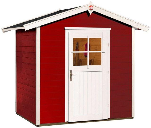 WEKA Gartenhaus »223 Gr.1«, BxT: 260x174 cm, inkl. Fußboden | Garten > Gartenhäuser | Rot | weka