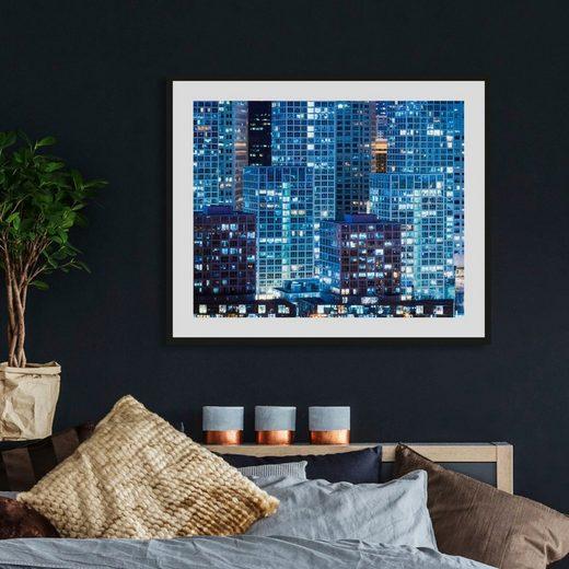 queence Acrylglasbild »Hochhäuser«