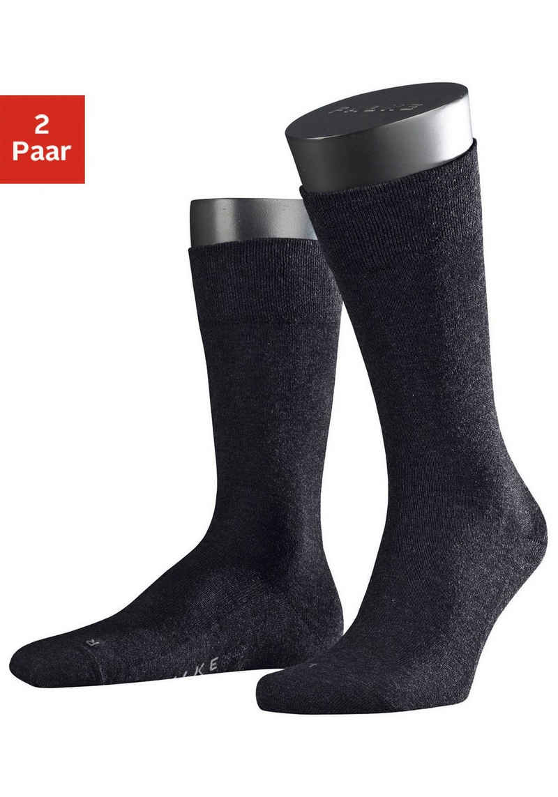 FALKE Socken »Sensitive London« (2-Paar) mit sensitve Bündchen ohne Gummi