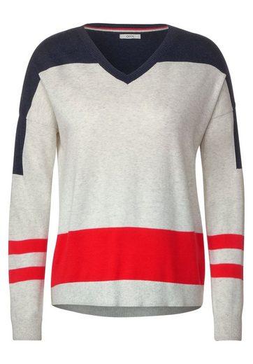 Cecil V-Ausschnitt-Pullover mit überschnittenen Schultern