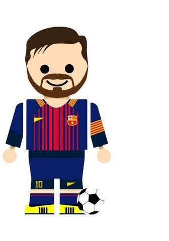 Wall-Art Wandtattoo »Spielfigur Fussball Messi«...