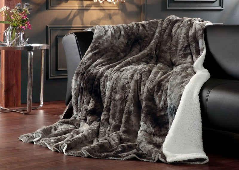 Wohndecke »Luxus Winterfell XXL«, Delindo Lifestyle, Hochwertigst verarbeitet in XXL-Größe 220x240 cm