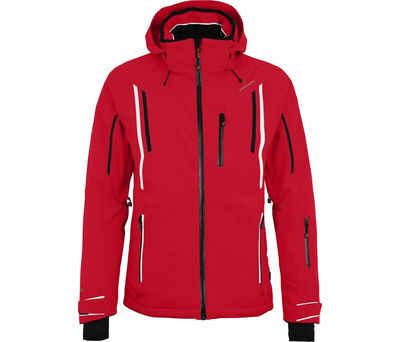 Bergson Skijacke »RILEY« Herren Skijacke, wattiert, 20000 mm Wassersäule, Kurzgrößen, China rot
