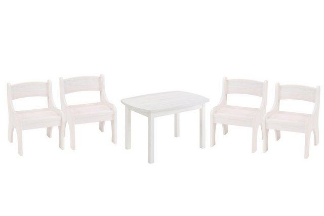 Sitzmöbel - BioKinder Das gesunde Kinderzimmer Kindersitzgruppe »Levin«, mit Tisch und 4 Stühlen, Sitzhöhe 30 cm  - Onlineshop OTTO