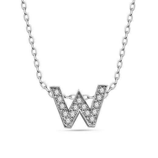 dKeniz Anhänger mit Kette »Buchstabe W 925/- Sterling Silber«
