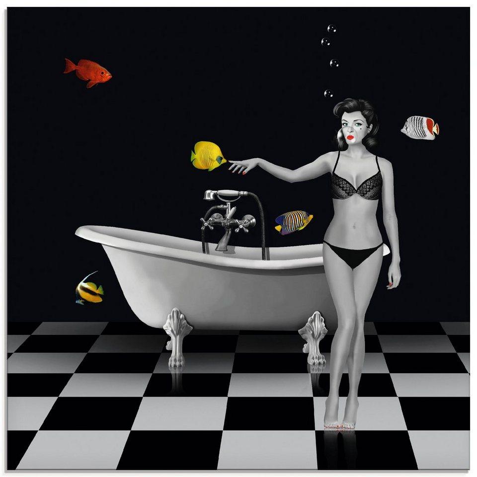Artland Glasbild »Ein Badezimmer für Fische«, Frau 20 Stück online kaufen    OTTO