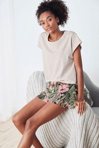Next Pyjama »Kurzes Pyjama-Set aus Baumwollmischung« (2 tlg)